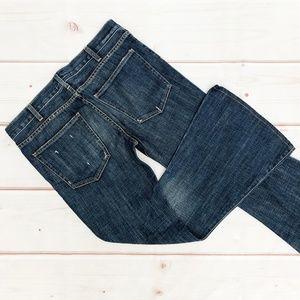 "Current/Elliott   ""Elephant Bell"" Destroyed Jeans"